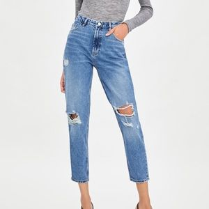 NWT Zara Authentic Mom Fit Jeans